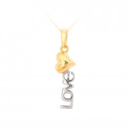 Citigems 916 Gold Loving Heart Pendant