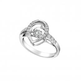 Citigems White Gold Tango Diamond Ring