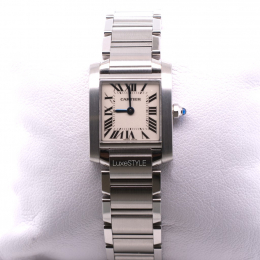 Pre-loved Cartier Tank Francaise White by Maxi-Cash