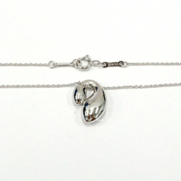 Pre-Loved Tiffany & Co. Elsa Peretti Double Teardrop Silver Necklace