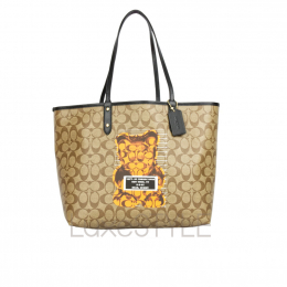Coach Reversible City Tote Bag with Vandal Gummy Bear