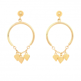Citigems 916 Heart Chandelier Earrings