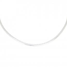Citigems 10K White Gold Herringbone Necklace/Chain