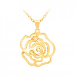 Citigems 916 Gold Rose Pendant