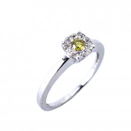 Citigems 18K White Gold Fancy Colored Diamond Ring