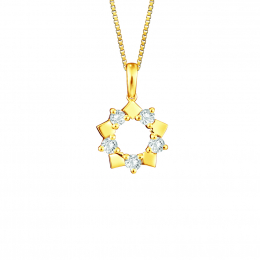 [FREE CHAIN] Citigems 18K Elistar Diamond Pendant