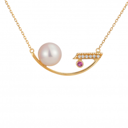 Citigems 18K Gold Balance Pearl Necklace