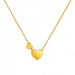Citigems 916 Gold Sweet Heart Necklace