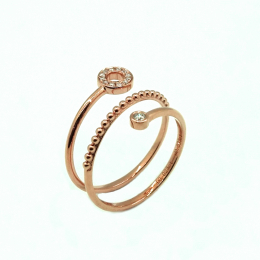 Citigems 18K Rose Gold Seoul Style Ring
