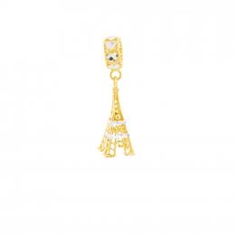 Citigems 916 Gold Eiffel Tower Charm