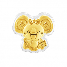 Mediacorp Citigems Le Shu Shu (乐鼠鼠) Rat Gold Coin