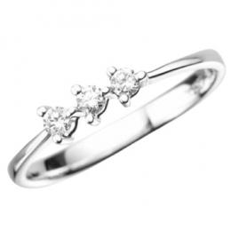 Citigems White Gold Classic Trilogy Diamond Ring