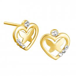 Citigems 916 Lovely Butterfly Earrings