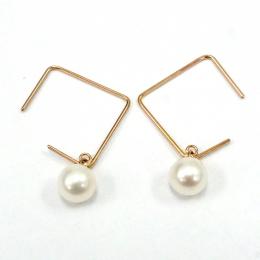 Citigems 18K Rose Gold Seoul Style Earrings 93556