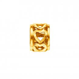 Citigems 916 Gold Ring Heart Charm