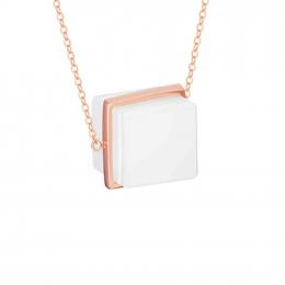 Citigems 18K Rose Gold Nephrite Necklace