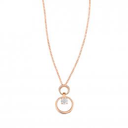 Citigems 18K Rose Gold We Belong Together Diamond Necklace