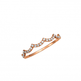Citigems 18K Rose Gold Seoul Style Ring 94905