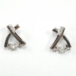 Citigems Perfect Love White Gold Tango Diamond Earrings