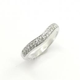 Pre-Loved Bvlgari Corona Curved Platinum Diamond Ring