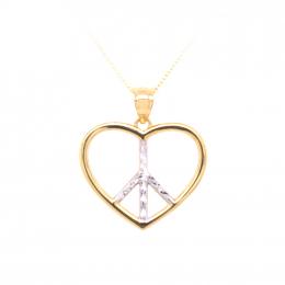 Citigems 916 Gold Peaceful Heart Pendant
