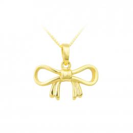 Citigems 916 Gold Dainty Ribbon Pendant