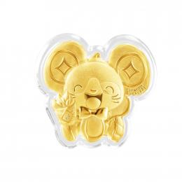 Mediacorp Citigems Yu Shu Shu (裕鼠鼠) Rat Gold Coin