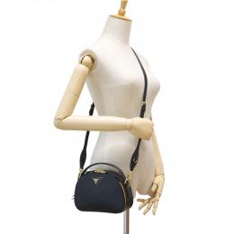 Prada Odette Saffiano Leather Black Crossbody bag (Unused)