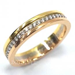 Pre-Loved Cartier Trinity 18K Three Tone Gold Diamond Band Ring