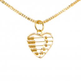Citigems 916 Heart Abacus Pendant