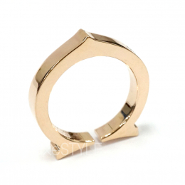 Pre-Loved Cartier C 18K Rose Gold Band Ring
