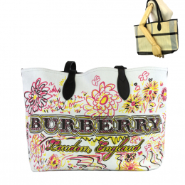 Pre-Loved Burberry Limited Edition Reversible  Tote