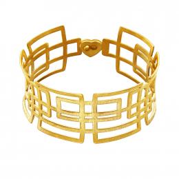 Citigems 999 Pure Gold Geometric Bangle