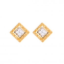 Citigems 916 Square Baroque Earrings