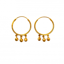 Citigems 916 Alegria Hoop Earrings