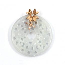 Citigems 18K Rose Gold Jadeite A Diamond Pendant