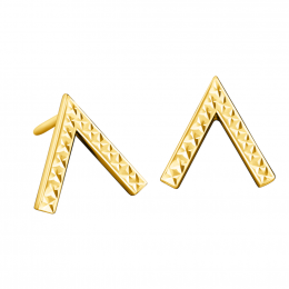 Citigems 916 Embroidered Triangle Earrings