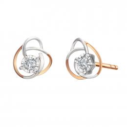 Citigems 10K Rose Gold Rose Starlite Diamond Earrings