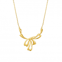 Citigems 999 Abstract Hearty Leaf Necklace