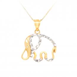 Citigems 916 Gold Wise Elephant Pendant