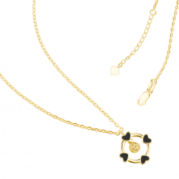 Citigems 916 Gold Follow Your Heart Necklace