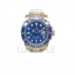Pre-Loved Rolex 18k White Gold Submariner 116619LB (Smurf)