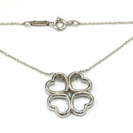 Pre-Loved Tiffany & Co. Four Heart Clover Silver Necklace