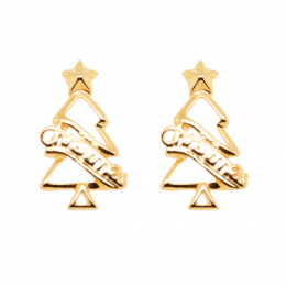 Citigems 916 Christmas Tree Earrings
