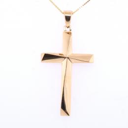 Citigems 916 Gold Asymmetrical Cross Pendant