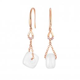 Citigems 18K Rose Gold Meliade Nephrite Jade Earrings