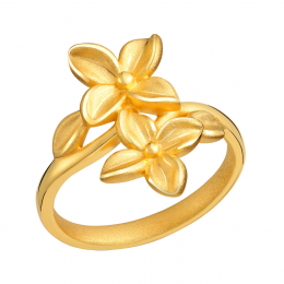 Citigems 999 Gold  Trillium Flower Ring
