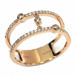 Citigems 14K Rose Gold Seoul Style Ring