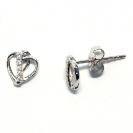 Citigems Perfect Love White Gold Diamond Earrings