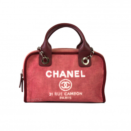 Pre-Loved Chanel Deauville Bowling Bag